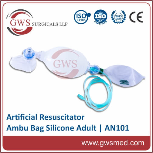 Silicone Artificial Resuscitator-Adult (With POP Off Valve)