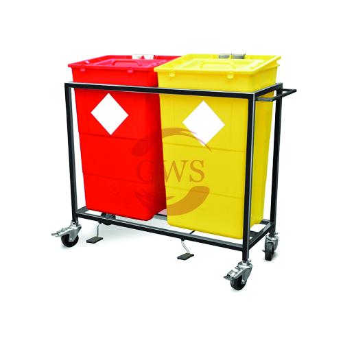 Dual Waste Segregation Trolley (Mild Steel) 60 Ltrs