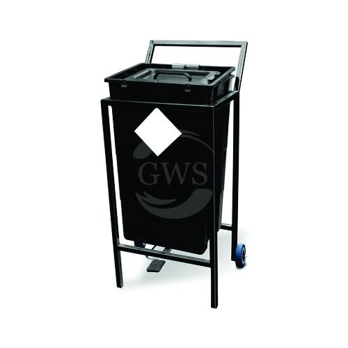 Single Waste Segregation Trolley (Mild Steel) 60 Ltrs