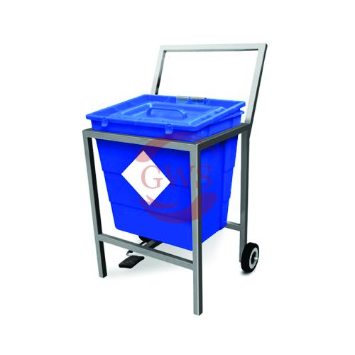 Single Waste Segregation Trolley (Stainless Steel) 30 Ltrs