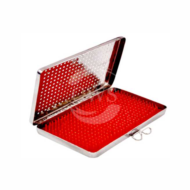 Perforated Sterilization Tray With Silicone Mat