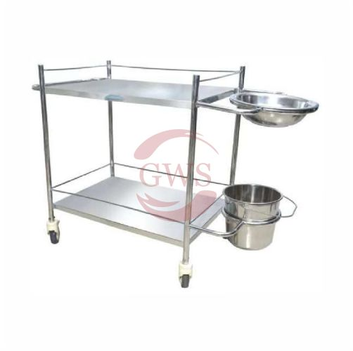 Dressing Trolley (With Bowl &Amp; Bucket)