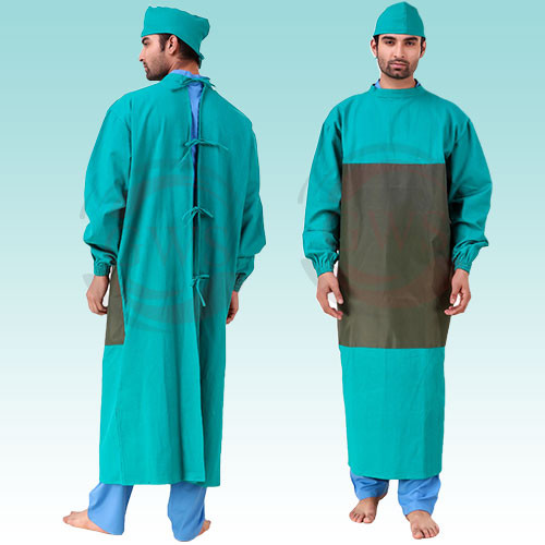 Gown With Impervious Material